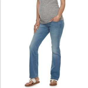 a:glow Full Belly Panel Bootcut Jeans